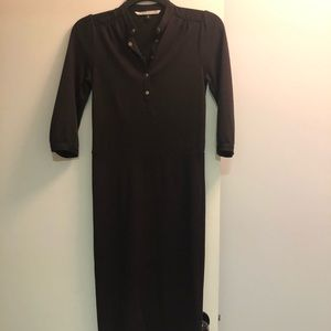 DVF eggplant wool blend dress